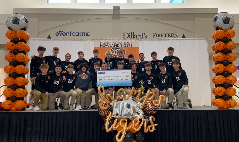 High school boys soccer team recognized for winning state championship